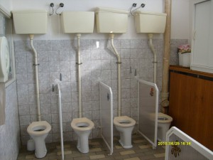 toalety dříve